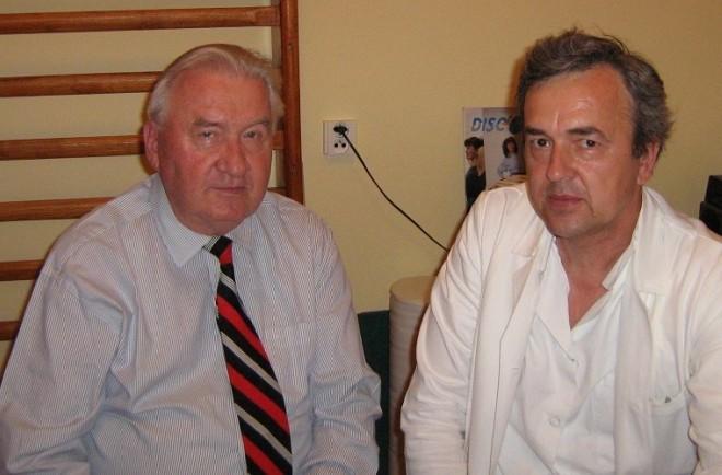 Prof. Gúth s druhým prezidentom Slovenskej republiky M. Kováčom