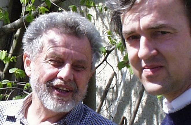 Prof. Gúth s historikom Pavlom Dvořákom