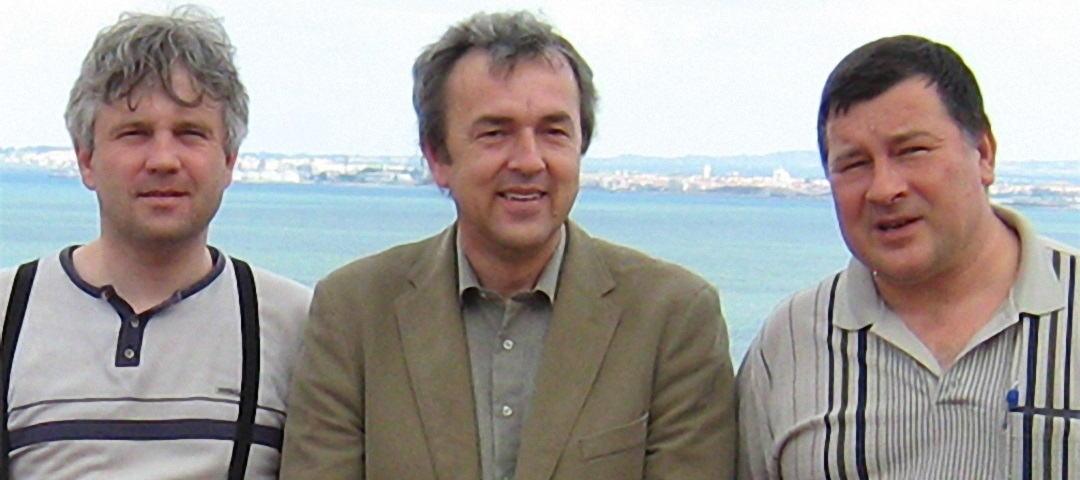 prof. Gúth s prof. Mikloškom a rektorom Krčmérym
