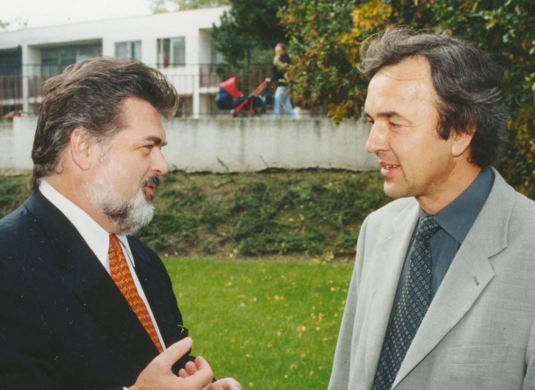 Prof. Gúth s Petrom Dvorským