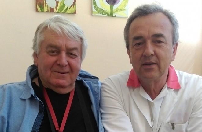 Prof. Gúth so spisovateľom Petrom Jarošom