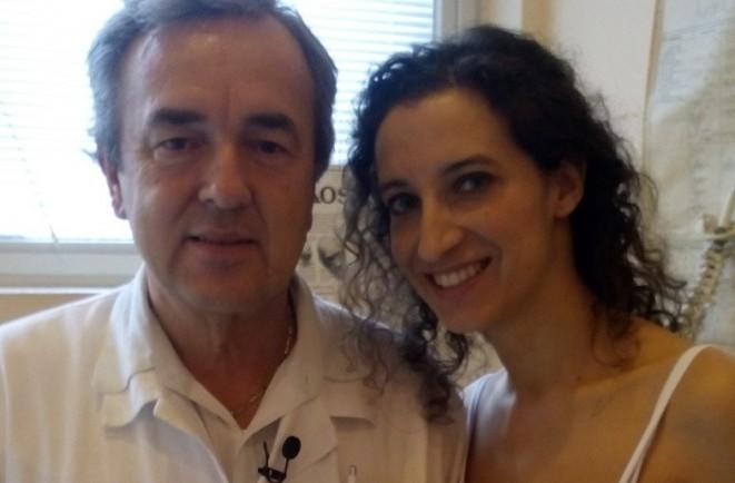 Prof. Gúth s najlepšou klaviristkou R. Palovičovou